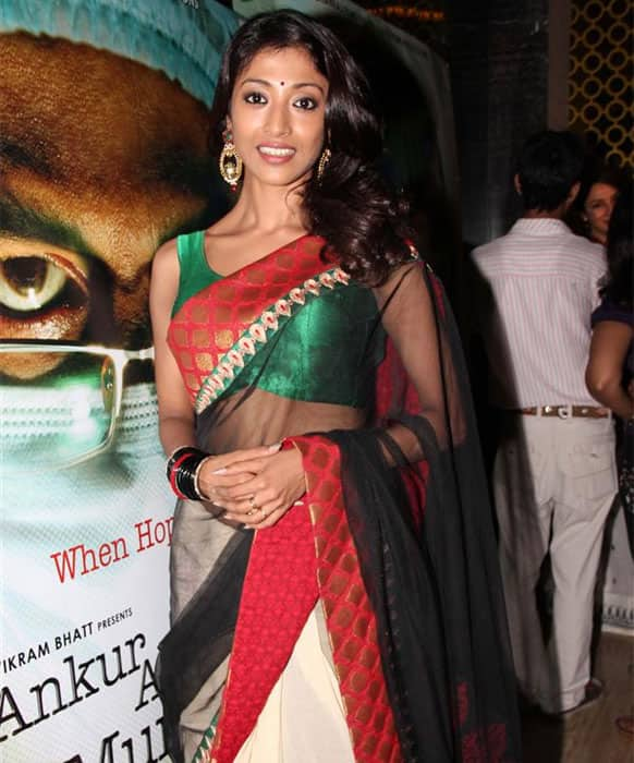 Paoli Dam poses for a photograph at the screening of 'Ankur Arora Murder Case'.