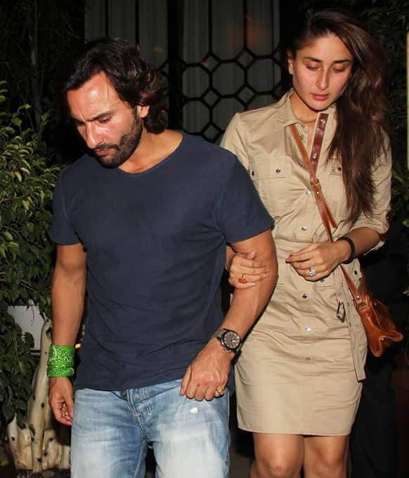 Saif Ali Khan and Kareena Kapoor were snapped on their way to a restaurant recently.