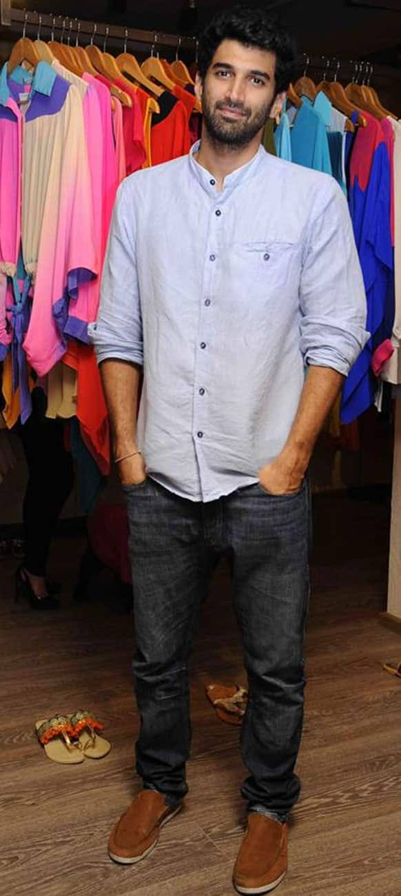 Aditya Roy Kapur at the launch of a pret line.