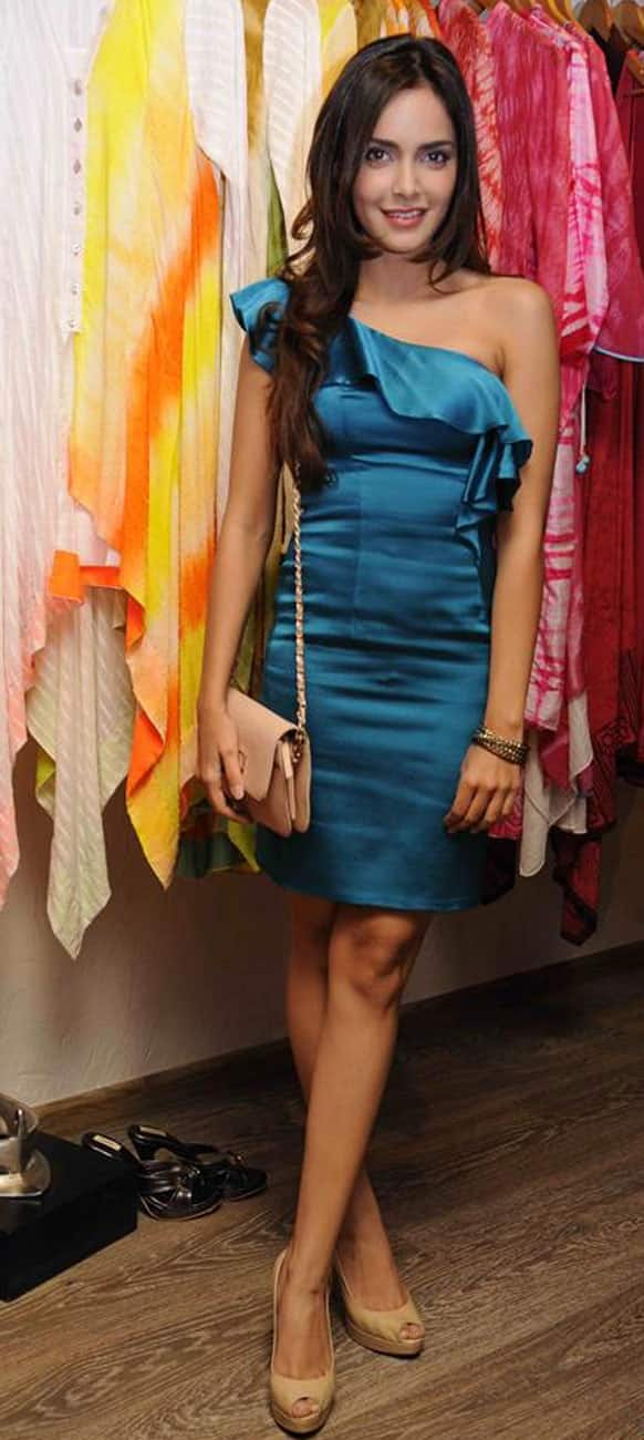 Shazahn Padamsee at the launch of a pret line.