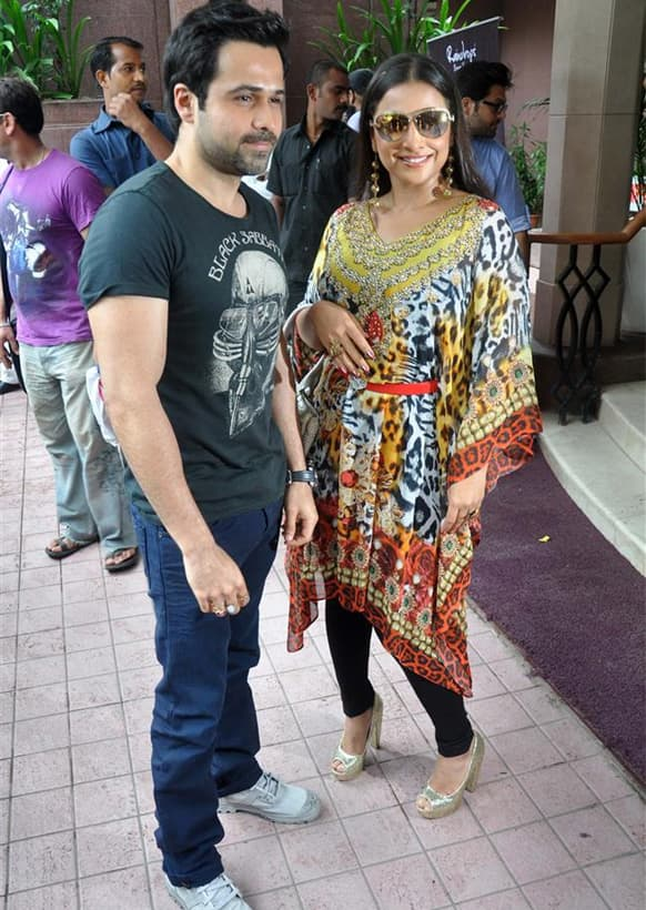Vidya Balan and Emraan Hashmi go whacky for the promotion of 'Ghanchakkar'.
