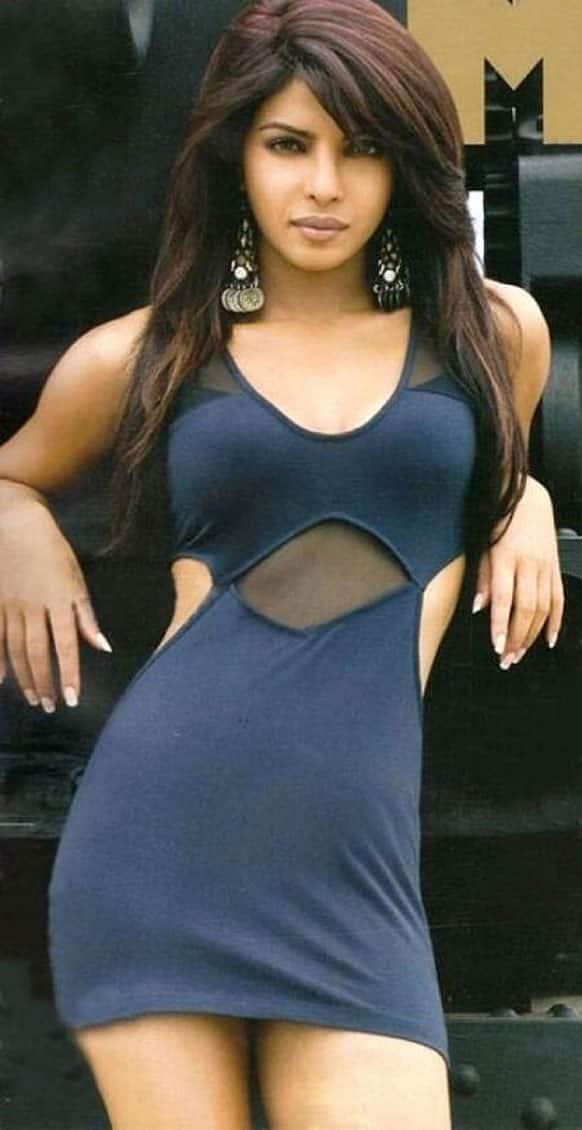 Priyanka Chopra's look for her new single 'Exotic' featuring Pitbull.
