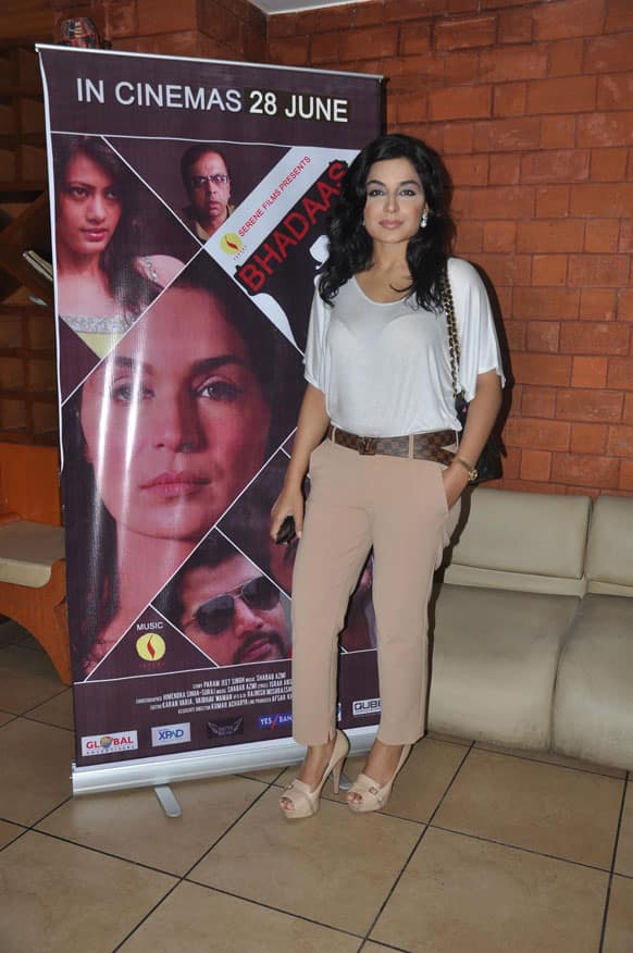 'Bhadaas' is a psycho thriller starring Meera in the lead role.