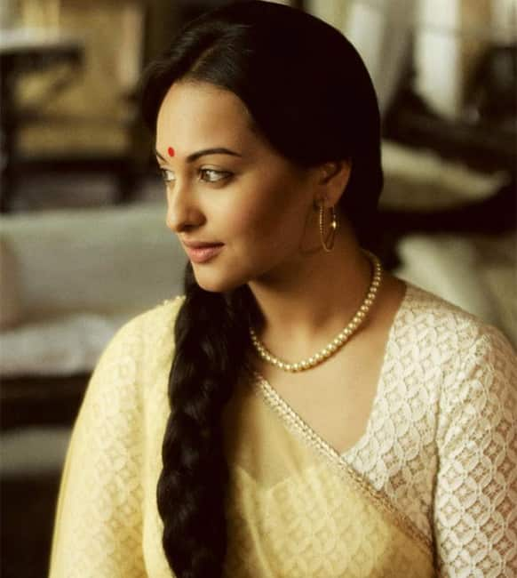 Sonakshi Sinha in a still from the film 'Lootera'. The actress is paired opposite to Ranveer Singh in the period drama.