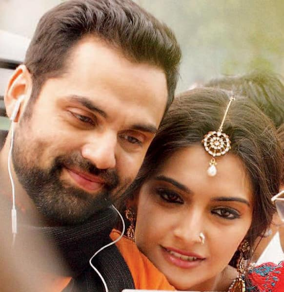 Abhay Deol and Sonam Kapoor on the sets of 'Raanjahanaa'.