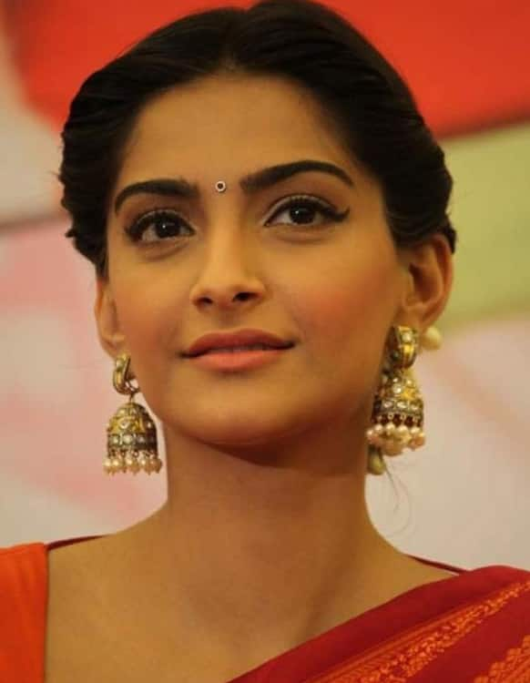 Sonam Kapoor during the promotions of her upcoming film 'Raanjhanaa'.