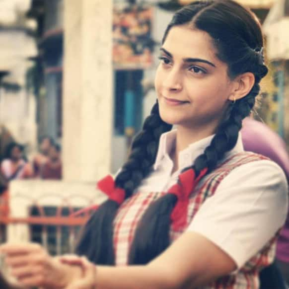 Sonam Kapoor in a still from her upcoming film, 'Raanjhanaa'.