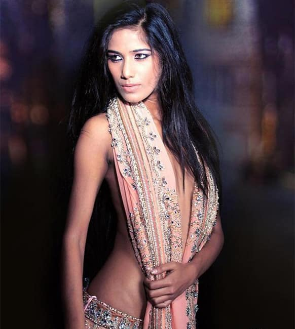 Poonam Pandey in a still from her debut film 'Nasha'.