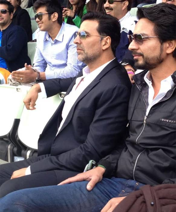 At the recent India-Pakistan ICC Champions Trophy match at Edgbaston, Akshay Kumar showed up - a la his 'Once Upon A Time In Mumbaai Dobara' avatar.