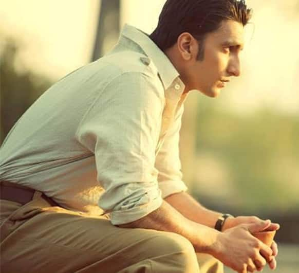 Ranveer Singh lost deep in thoughts - a still from 'Lootera'.