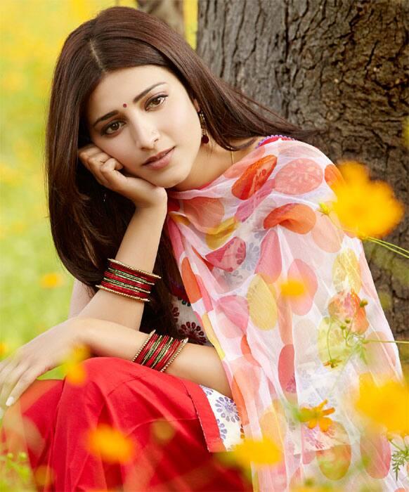 Shruti Haasan is lost in deep thought.
