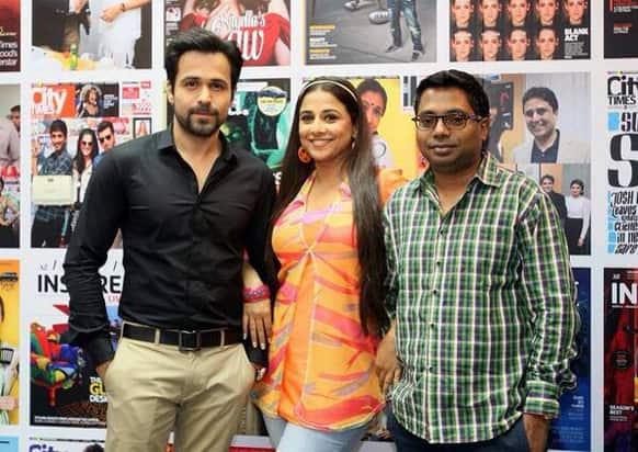 Emraan Hashmi, Vidya Balan and director Rajkumar Gupta snapped during the promotions of 'Ghanchakkar'.