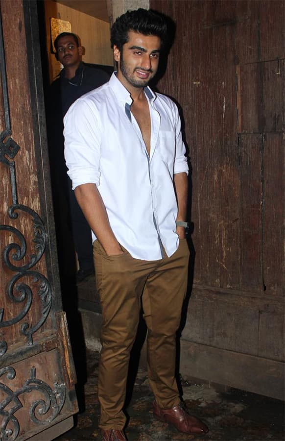 Arjun Kapoor poses for the lenses at his birthday bash. The 'Ishaqzaade' star turned 28 on June 26.