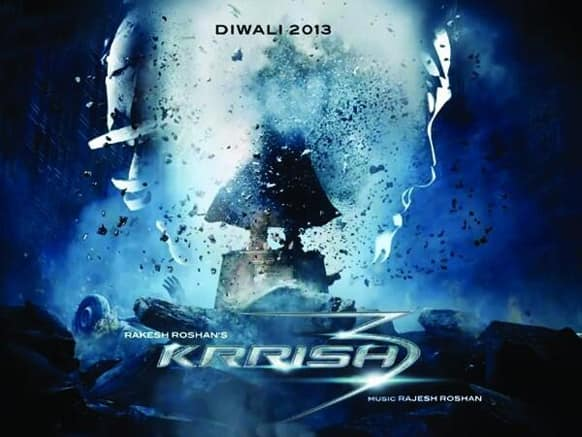 Here's the first look of the much-anticipated 'Krrish 3'. Starring Hrithik Roshan, Priyanka Chopra and Vivek Oberoi in pivotal roles, the film is to hit theatres this Diwali.