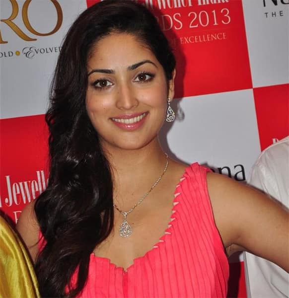 Yaami Gautam poses for a photograph at an event.