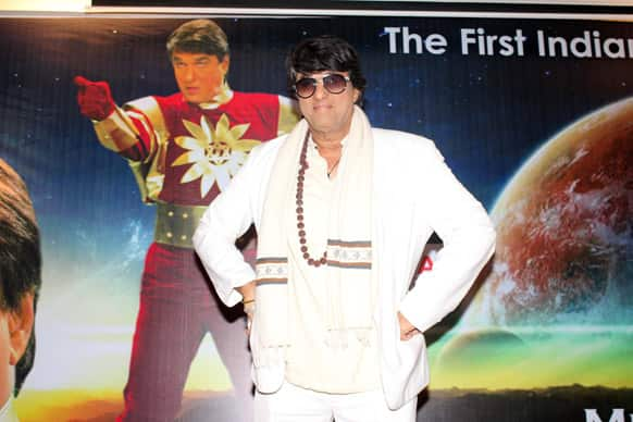 Mukesh Khanna addressing the gathering at the launch event.