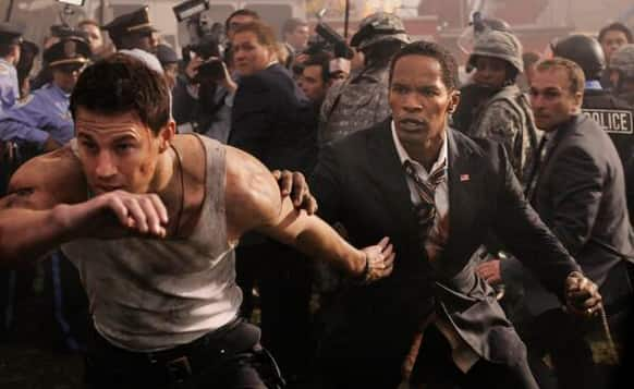 Channing Tatum in a still from 'White House Down'.