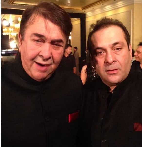 Kapoor brothers Randhir and Rajeev at the IIFA main event.
