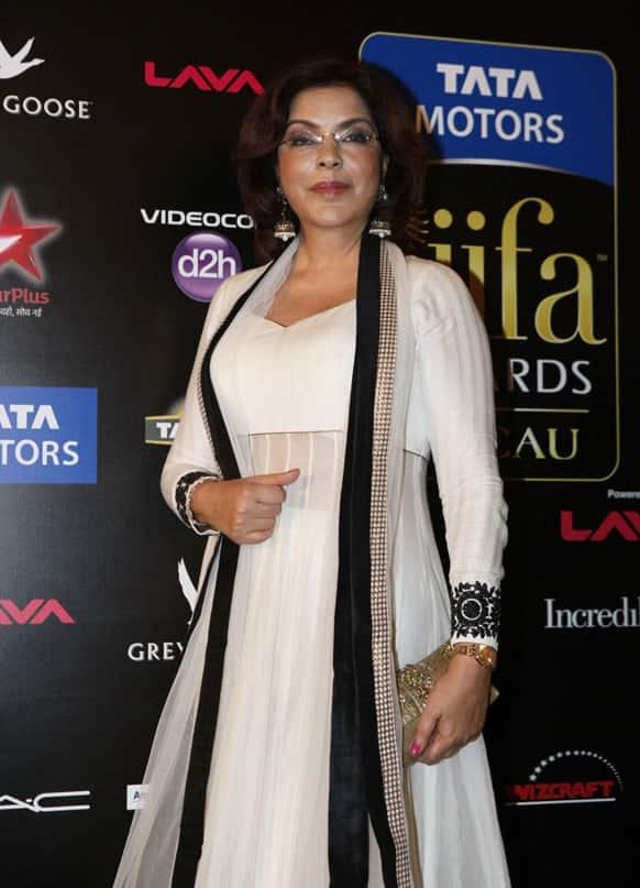 Bollywood actor Zeenat Aman arrives for the International Indian Film Academy (IIFA) awards in Macau.