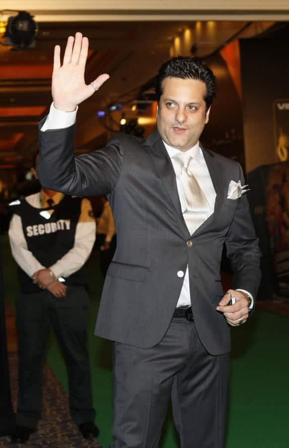 Bollywood actor Fardeen Khan arrives for the International Indian Film Academy (IIFA) awards in Macau.