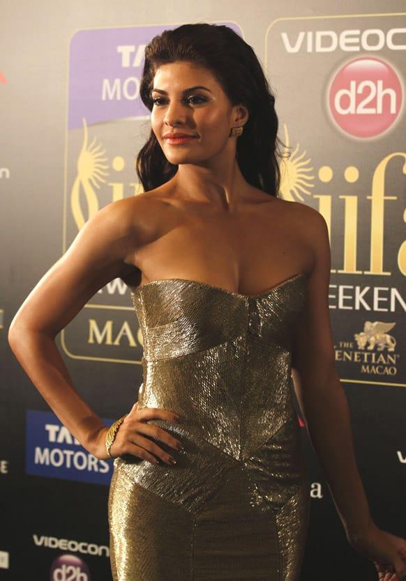 Jacqueline Fernandez arrives for the International Indian Film Academy (IIFA) awards in Macau.