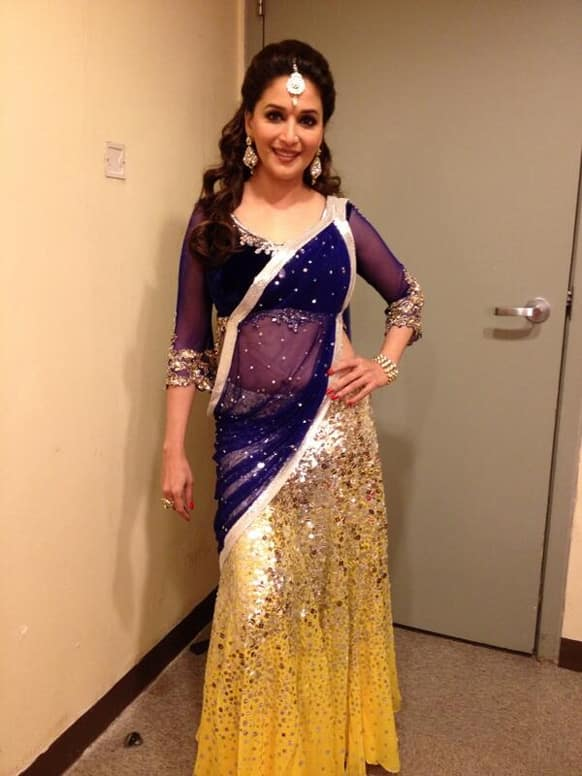 Madhuri Dixit posted this pic on Twitter and wrote,