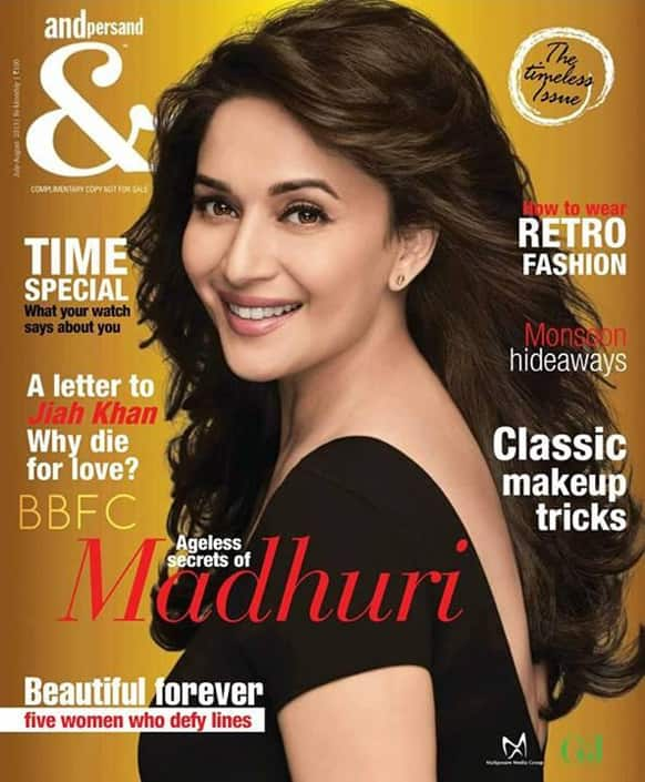 Madhuri Dixit on the cover of Andpersonand magazine's cover.