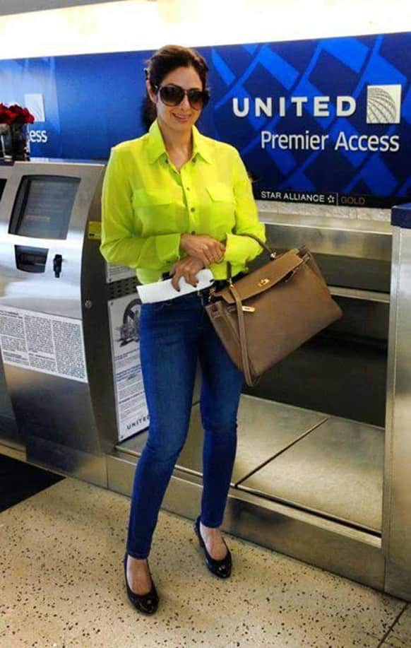 Sridevi Boney Kapoor is on a trip to the US for a few days.