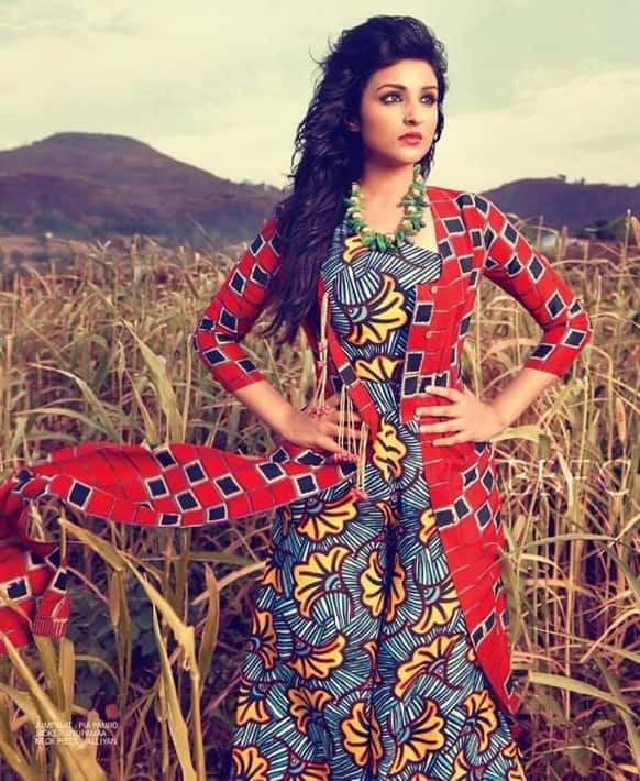 Parineeti Chopra sports a glamourous look for Filmfare's July 2013 issue.