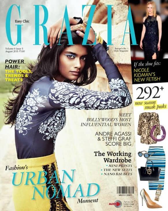 Grazia Magazine's August 2013 issue features model Archana Akil Kumar.