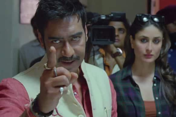 Ajay Devgn and Kareena Kapoor in a still from 'Satyagraha'.