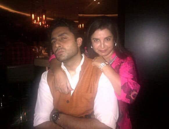 Farah Khan poses with Abhishek Bachchan, Pic Courtesy @TheFarahKhan