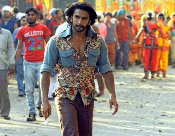 Ranveer Singh in full-on Gunda mode on the sets of 'Gunday'.