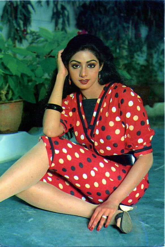 Sridevi was overweight initially. But then she went the Rekha way, and lost a lot of weight.