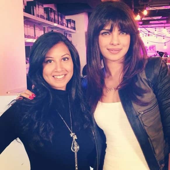 Actress turned singer Priyanka Chopra promotes her new single 'Exotic' in LA.
