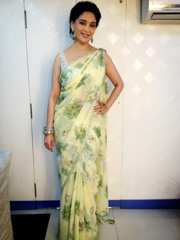 Madhuri Dixit posted this pic on Twitter.