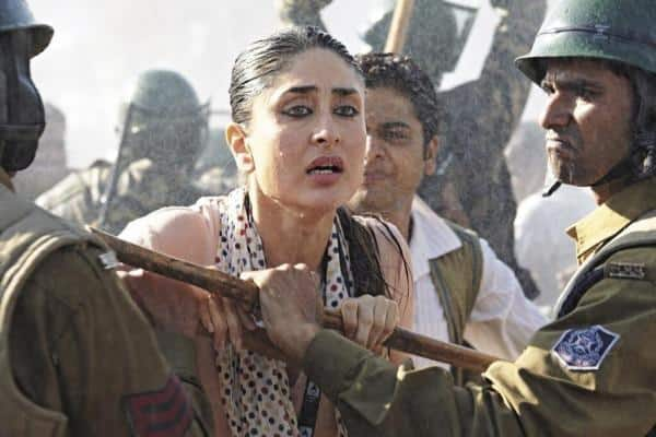 Kareena Kapoor in a still from Prakash Jha's 'Satyagraha'.