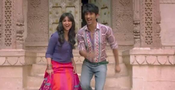 Sushant Singh Rajput and Parineeti Chopra in a still from 'Shuddh Desi Romance'.