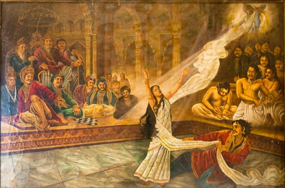 It was Krishna who heard Queen Draupadi's plea and saved her from getting disrobed at the hands of the evil Kauravas.