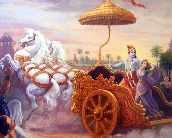 Krishna fled away with Princess Rukmini, on her call, to save her from getting married to Shishupal against her wishes.