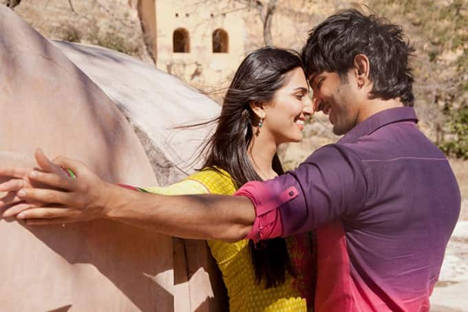 Sushant Singh Rajput and Vaani Kapoor in a still from 'Shuddh Desi Romance'.