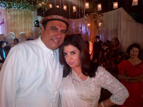 Farah Khan with Boman Irani celebrating Pateti, Pic Courtesy: @TheFarahKhan