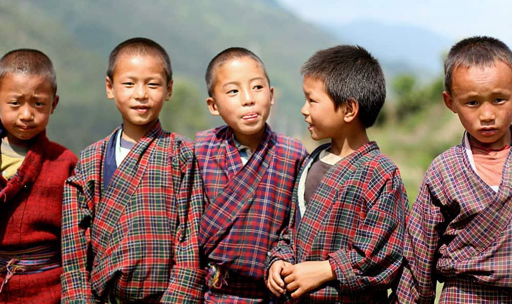 The warm, friendly and peace-loving children of Bhutan- Image Courtesy- Jason Craig D'Souza