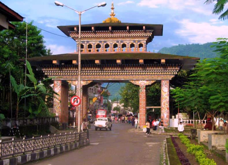 The Bhutan Gate which divides India and Bhutan- Image Courtesy- Linda De Volder