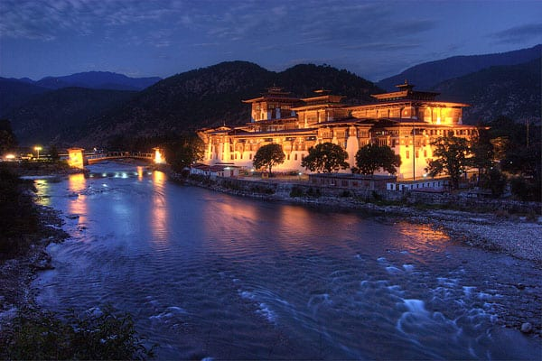 Punakha Dzong, situated on the banks of the Pho Chhu and Mo Chhu rivers. Image Courtesy Tan Yilmaz.