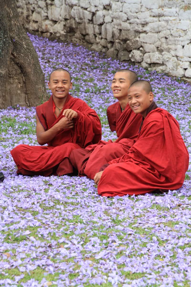 Buddhist monks-Image Courtesy Tourism Council of Bhutan