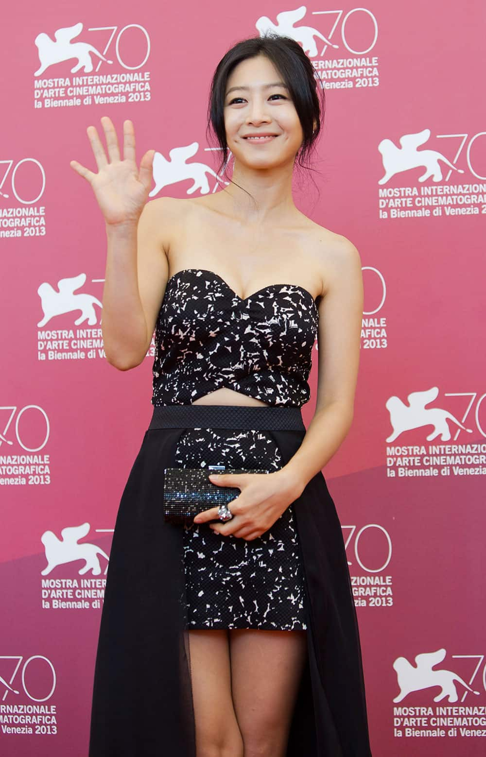 Actress Lee Eun-woo, poses during a photo call for the movie 'Moebius' at the 70th edition of the Venice Film Festival.