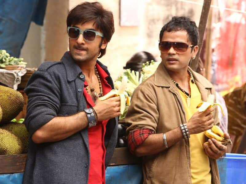 Ranbir Kapoor in a still from 'Besharam'.