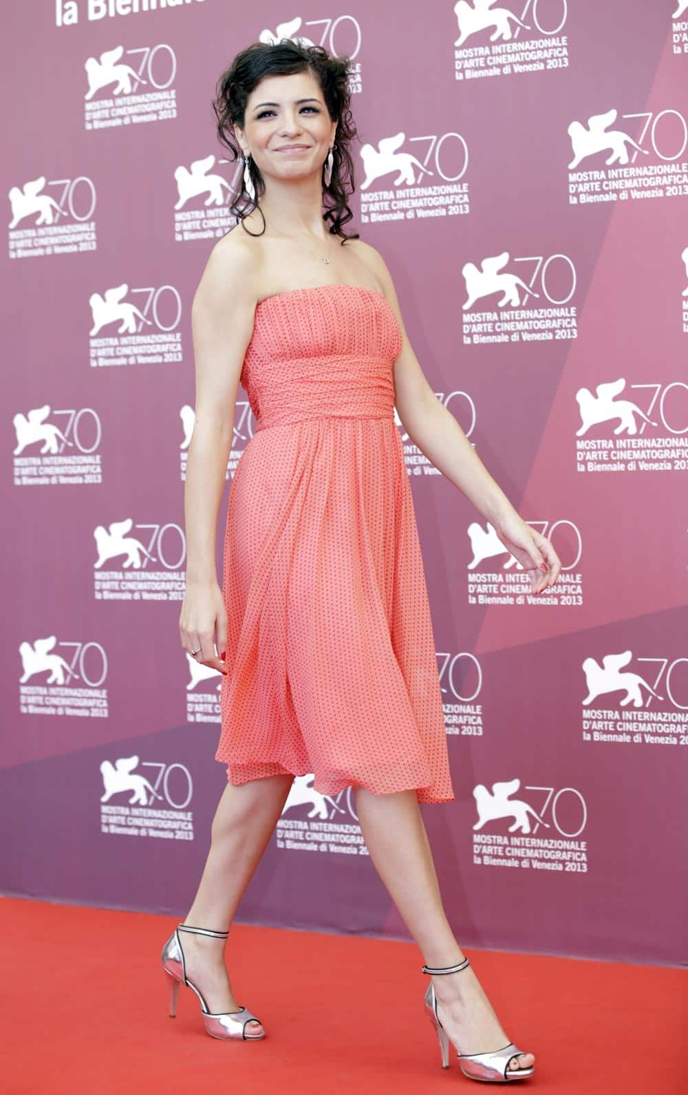 Actress Meriem Medjkane poses for photographers during the photo call of the film 'Les Terrasses' at the 70th edition of the Venice Film Festival.