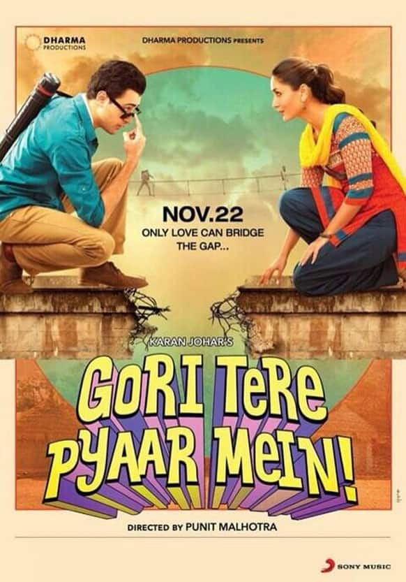 The first poster of 'Gori Tere Pyaar Mein' starring Imran Khan and Kareena Kapoor Khan